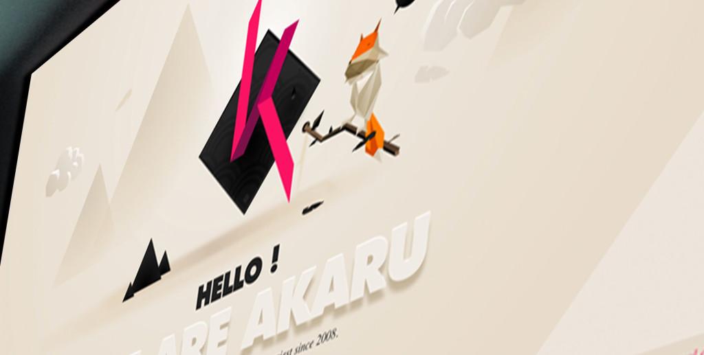 Hui site of the week akaru web agency hacking ui