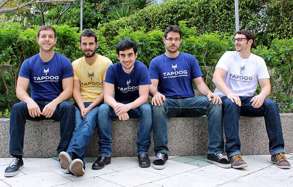 The Tapdog team – David, Ohad, Alon, Noam and myself