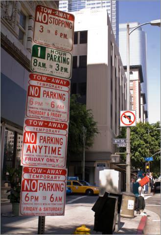 La City Temporary No Parking Signs