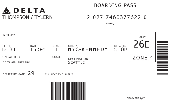 Boarding Pass: Before