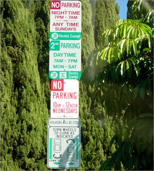LA Parking Sign